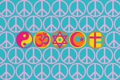 Illustratie die van idee Vrede ter wereld tonen vector illustratie