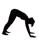 Illustratie die van vrouw opdrukoefeningoefening doet. royalty-vrije stock afbeelding