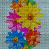 Illustratie Dwars-steek adonis Naadloos patroon Royalty-vrije Stock Afbeelding