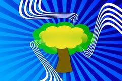 Illustratie een boom Royalty-vrije Stock Afbeeldingen
