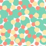 Illustratie gekleurd cirkel naadloos patroon Royalty-vrije Illustratie
