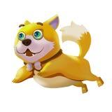Illustratie: Geplaatste elementen: Gelukkige Hond Stock Fotografie