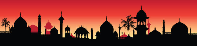 Illustratie: Indisch panorama Royalty-vrije Stock Foto's
