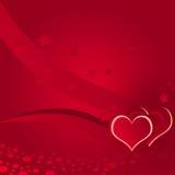 Illustratie, liefde, die achtergrond bestrooit stock illustratie