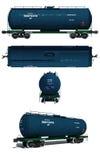 Illustratie: Meningen van moderne blauwe tankwagen Royalty-vrije Stock Foto's