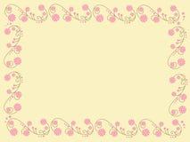 Illustratie met bloemen Stock Afbeeldingen