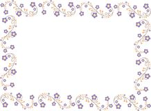 Illustratie met bloemen Royalty-vrije Stock Foto