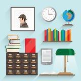 Illustratie met boeken Stock Foto