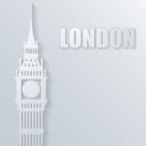 Illustratie met de Big Ben-pictogram Stock Fotografie