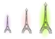 Illustratie met de Toren van Eiffel Royalty-vrije Stock Foto