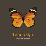 Illustratie met een vlinder Royalty-vrije Stock Foto's
