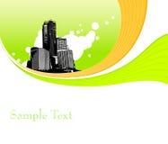 Illustratie met gebouwen. Vector Stock Fotografie