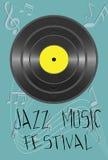Illustratie met het concept van het jazzfestival Royalty-vrije Stock Foto's