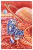 Illustratie met kind en ruimte royalty-vrije illustratie