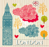 Illustratie met Londen de Big Ben Royalty-vrije Stock Fotografie