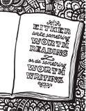Illustratie met notitieboekje en het citaat van Benjamin Franklin royalty-vrije illustratie