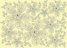 Illustratie met uitstekende bloemen Stock Illustratie