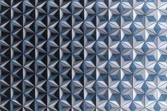 Illustratie met velen die omgekeerde piramides in witte blauwe kleuren herhalen vector illustratie