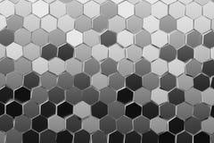 Illustratie met velen die zeshoeken in velen herhalen schaduw van grijs royalty-vrije illustratie
