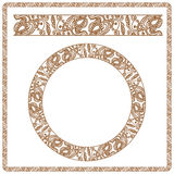 Illustratie Naadloos die patroon als henna wordt gestileerd Royalty-vrije Stock Foto