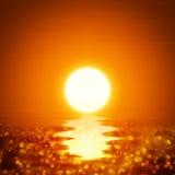 Illustratie oceaanzonsondergang Stock Foto