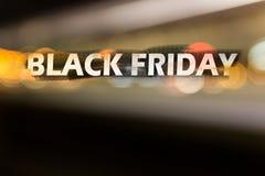 Illustratie op het thema van zwarte vrijdagverkoop royalty-vrije stock fotografie