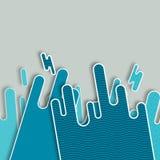 Illustratie Overzeese golven Stock Fotografie