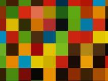 Illustratie, Partij van kleurrijke chocoladedalingen stock foto's