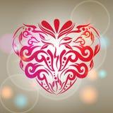 Illustratie romantische achtergrond met abstracte flo Royalty-vrije Stock Foto's