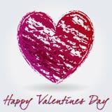 Illustratie romantische achtergrond met hand getrokken h Royalty-vrije Stock Fotografie
