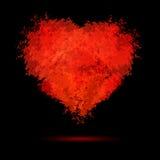 Illustratie romantische achtergrond met hand getrokken h Stock Foto's
