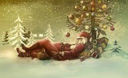 Illustratie-santa Claus van Kerstmis Royalty-vrije Stock Fotografie
