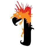 Illustratie van Één Aantal met monster Geplaatste ontwerpaantallen Stock Fotografie