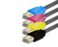 Illustratie van aanslutingen USB Royalty-vrije Stock Foto's