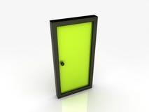Illustratie van abstracte deur Stock Illustratie
