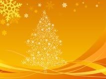 Illustratie van abstracte Kerstmisachtergrond Royalty-vrije Stock Foto