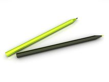 Illustratie van abstracte potloden Stock Illustratie