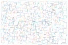 Achtergrond die van diverse groottevierkanten wordt gemaakt Royalty-vrije Stock Fotografie