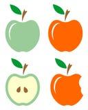 Illustratie van appelen Stock Foto's