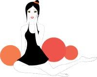 Illustratie van Aziatisch meisje Royalty-vrije Stock Afbeelding