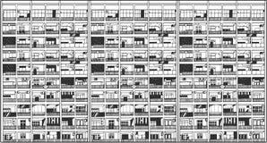 Illustratie van Aziatische commerciële en woningbouw stock illustratie
