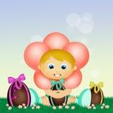 illustratie van Baby Pasen Stock Afbeelding