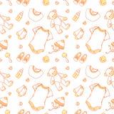 Illustratie van babypunten in patroon stock illustratie