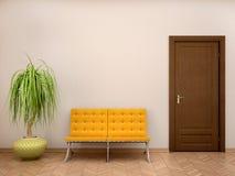 Illustratie van badkamersbinnenland in warme tonen Royalty-vrije Stock Afbeelding