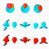 Illustratie van ballons Stock Afbeeldingen