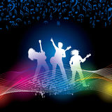 Illustratie van band van musicus het presteren vector illustratie