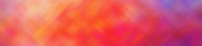Illustratie van blauwe, purpere, rode en gele helder door de Uiterst kleine achtergrond van de Glasbanner stock illustratie