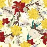 Illustratie van bloem de Vectorseamples Stock Afbeelding