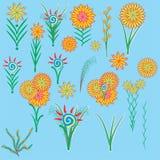 Illustratie van bloemen Stock Foto's