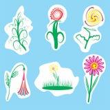 Illustratie van bloemen Royalty-vrije Stock Foto